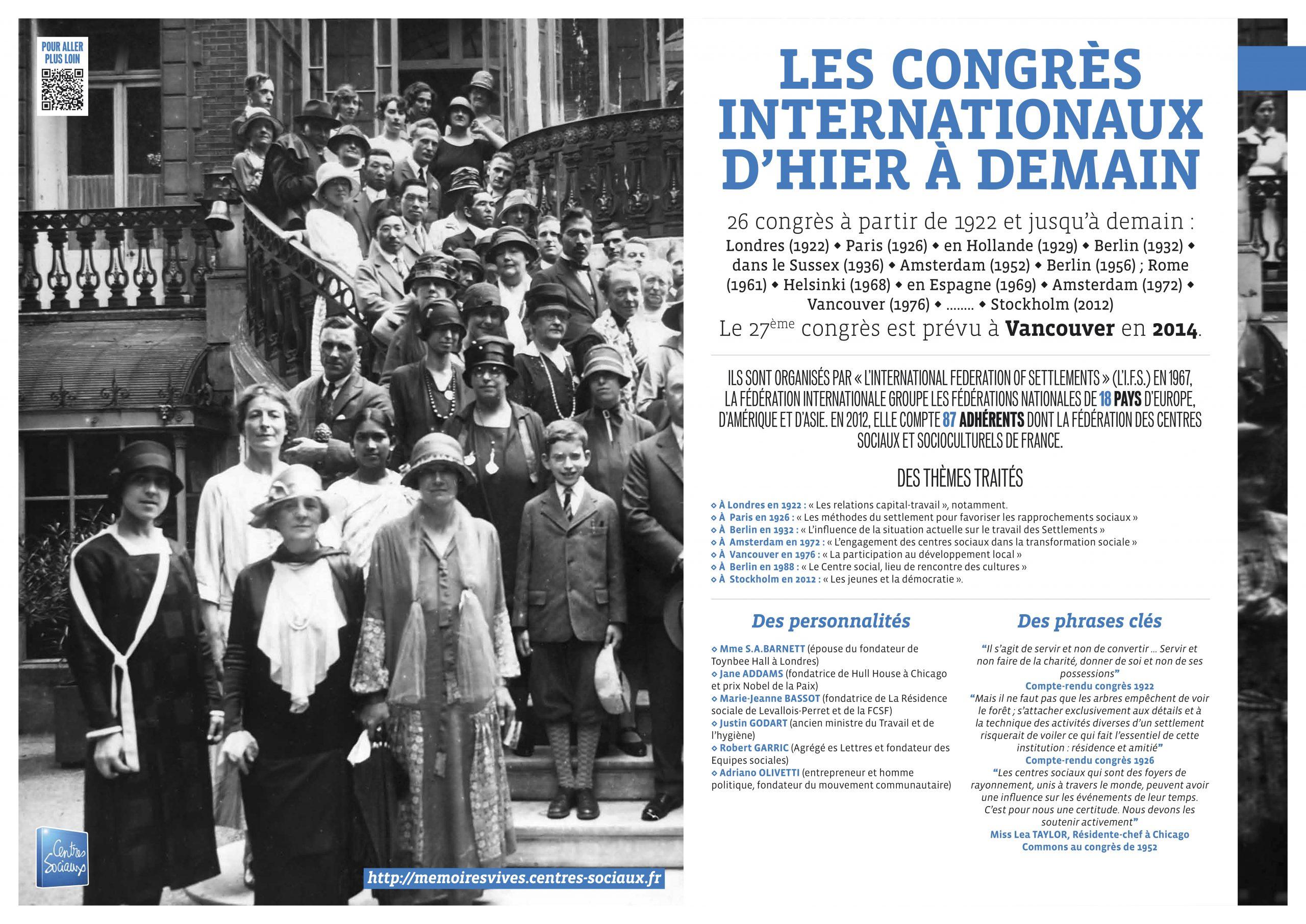 Congrès internationaux